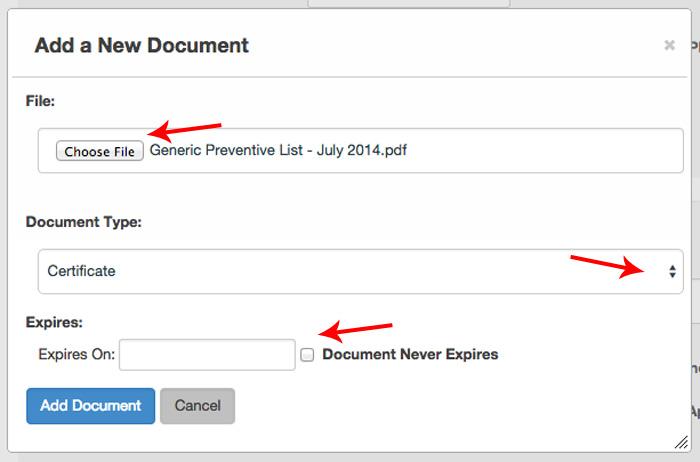 Help Add Document